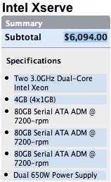 Intel Xserve Dual - DualCore 3.0Ghz